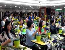 中国银行插花活动-插花培训